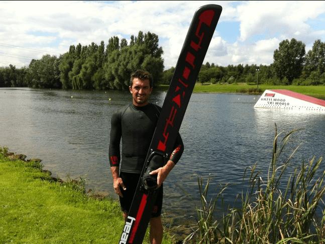 Tom Asher stokes Skis