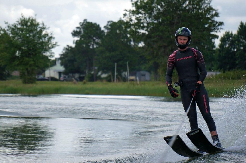 Felix Blomqvist in Pink speedsuit