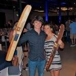 Josh and Jacinta with awards