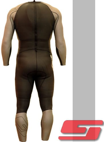 Velocity Speed Suit - Black/Silver-175