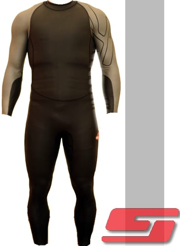 Velocity Speed Suit - Black/Silver-176
