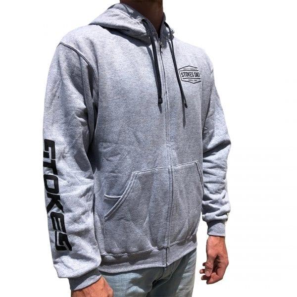 Stokes Grey Logo Hoodie-311