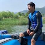 Jimin Jeong on his Nautique 200